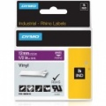 Dymo Rhino Purple Vinyl Tape - 12mm, white Text (p/n: 1805415)