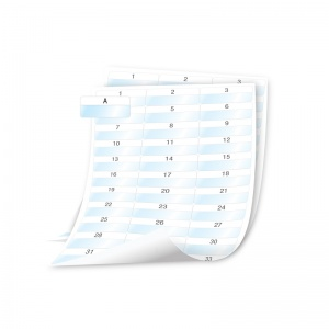 Dymo XTL  Laminated Cable Wrap SHEET Labels - 54x23mm,  Text (p/n: 1908557) - DISCONTINUED