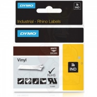 Dymo Rhino Brown Vinyl Tape - 12mm, white Text (p/n: 1805412)