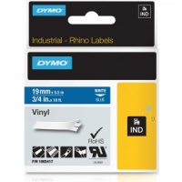 Dymo Rhino Blue Vinyl Tape - 19mm, white Text (p/n: 1805417)