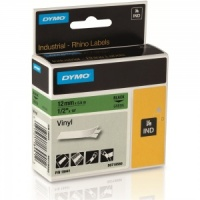 Dymo Rhino Green Vinyl Tape - 12mm, Black Text (p/n: 18441) --- DISCONTINUED ---