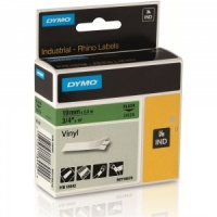 Dymo Rhino Green Vinyl Tape - 19mm, Black Text (p/n: 18442) --- DISCONTINUED ---
