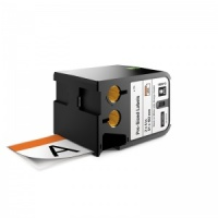 Dymo Rhino XTL White with Orange Header Safety Labels - 51x102mm, Black Text (p/n: 1868713)