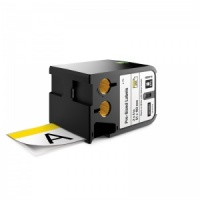 Dymo Rhino XTL White with Yellow Header Safety Labels - 51x102mm, Black Text (p/n: 1868714)