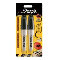 Industrial Sharpie Pro, Chisel Tip, Twin Pack (S0810780)